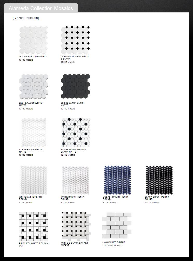 Ceramic Mosaics Hexagons