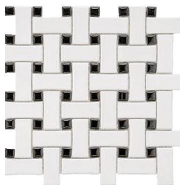 Alameda white-and-black-basketweav