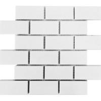 2x4 white porcelain mosaics subway tiles