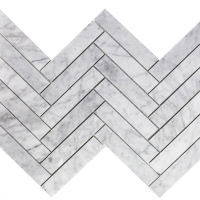 Carrara Marble Herringbone Honed