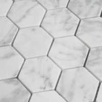 Carrara Marble 2x2 Hexagons