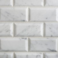 2x4 Carrara Honed Beveled Mosaics