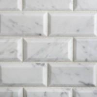 2x4 Carrara Honed Beveled Mosaics